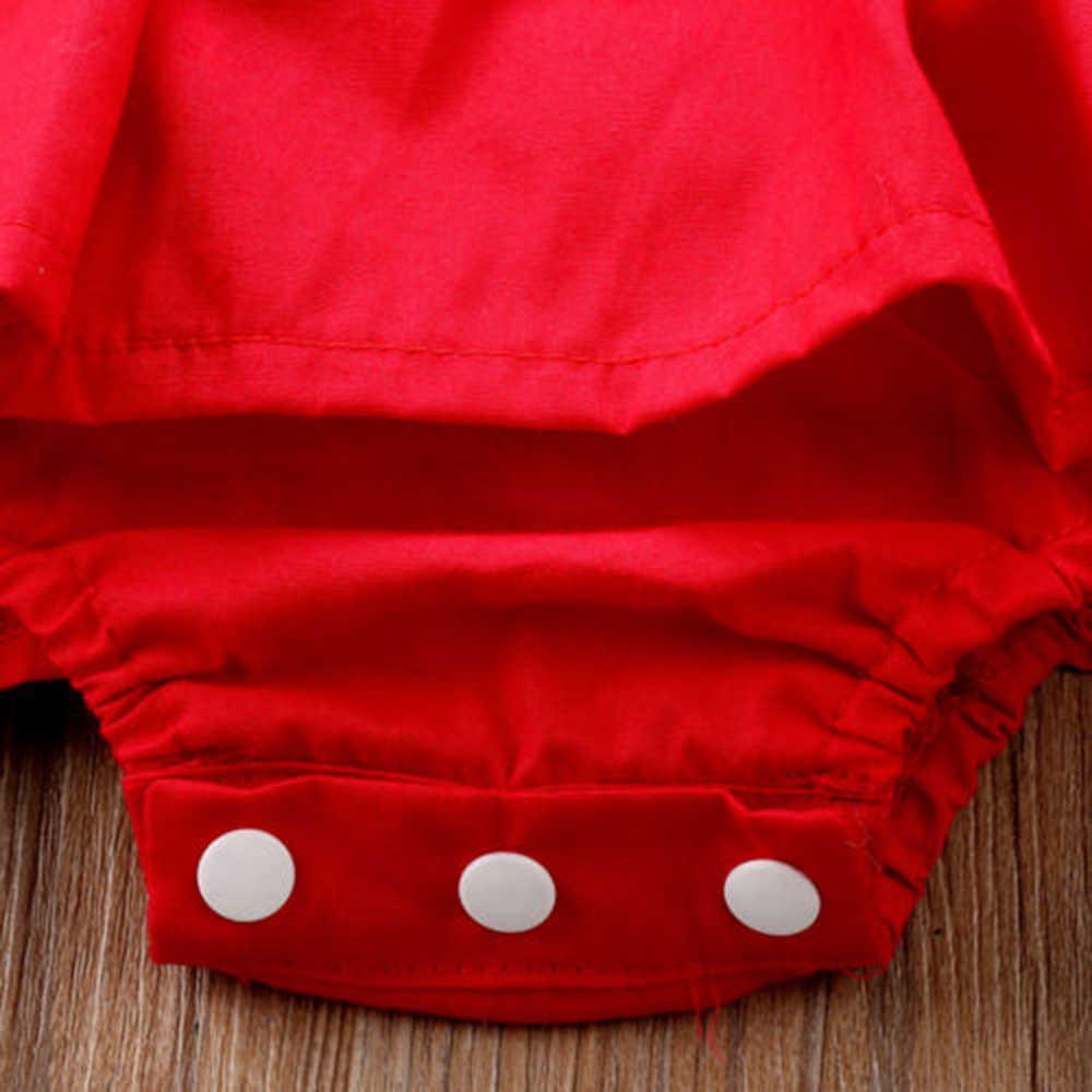 الصلبة طفلة الموضة Dresse الوليد طفلة ملابس عيد الميلاد أكمام ارتداءها عقال 2 قطعة وتتسابق مجموعة 0-24 أشهر