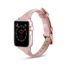 Slim Genuine Leather Strap For Apple Watch 4 Band 40mm 44mm VIOTOO Rose Red Sport Wristband iWatch 42mm 38mm Bands