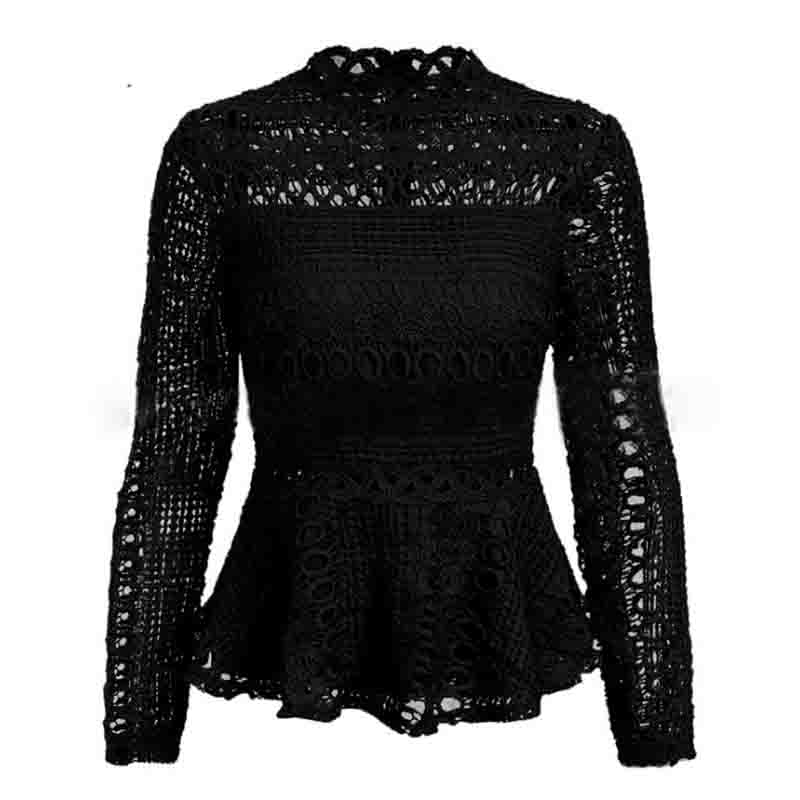 Elegant Lace Hollow Out Blouse 4