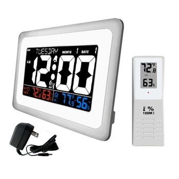Digital Alarm Clock for Charging Snooze Function, Timer, Sound Control Function, World Time Pattern, Month Date & Temperature Di