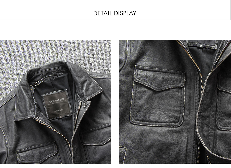 Hb5dae6af7f3d42019bfd897bdf172b21z CARANFIER DHL Free Shipping Mens 100% Cowhide Genuine Leather Jacket High quality old retro motorcycle leather jacket 3XL
