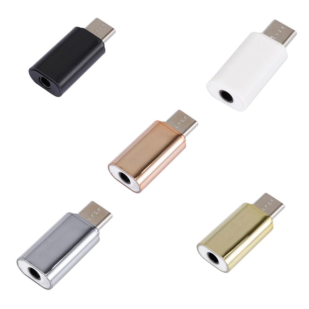 Mini Portable USB C Type C Male To 3.5MM Female Headphone Jack Audio Adapter Stereo Earphone Headset Converter For Xiaomi Huawei