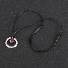 Unisex Men Women Natural Stone Pendant Necklace Tiger Eye Onyx Lapis Lazuli Round Beads Necklaces
