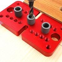3 em 1 punlocator punch gabarito passador de madeira perfuração vertical localizar para móveis carpintaria marcenaria ferramentas auto centralização encavilhar