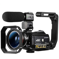 4K Camcorder Video Camera with Night Vision Ordro AC3 60FPS 30X Digital Zoom IPS Touch Screen Vlogging Camera