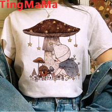 Kawaii Mushroom T-Shirts Women Ulzzang Grunge 90s Harajuku Cartoon Graphic Tees Casual Tops Anime Female Tshirt Unisex Ladies