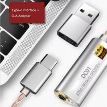 유형 C 3.5mm 2.5mm 헤드폰 증폭기 어댑터 iBasso DC01 DC03 USB DAC 안 드 로이드 PC ipad HiFi HiRes 케이블 어댑터
