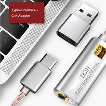 Tipo c a 3.5mm 2.5mm adaptador de amplificador de auscultadores para ibasso dc01 dc03 usb dac para android pc ipad alta fidelidade contrata adaptador de cabo