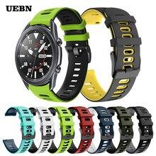 UEBN/20 мм/22 мм спортивный силиконовый Correa, ремешок на запястье для Samsung Galaxy watch 3 41 мм, 45 мм, ремешок для шестерни S3 браслет для наручных часов