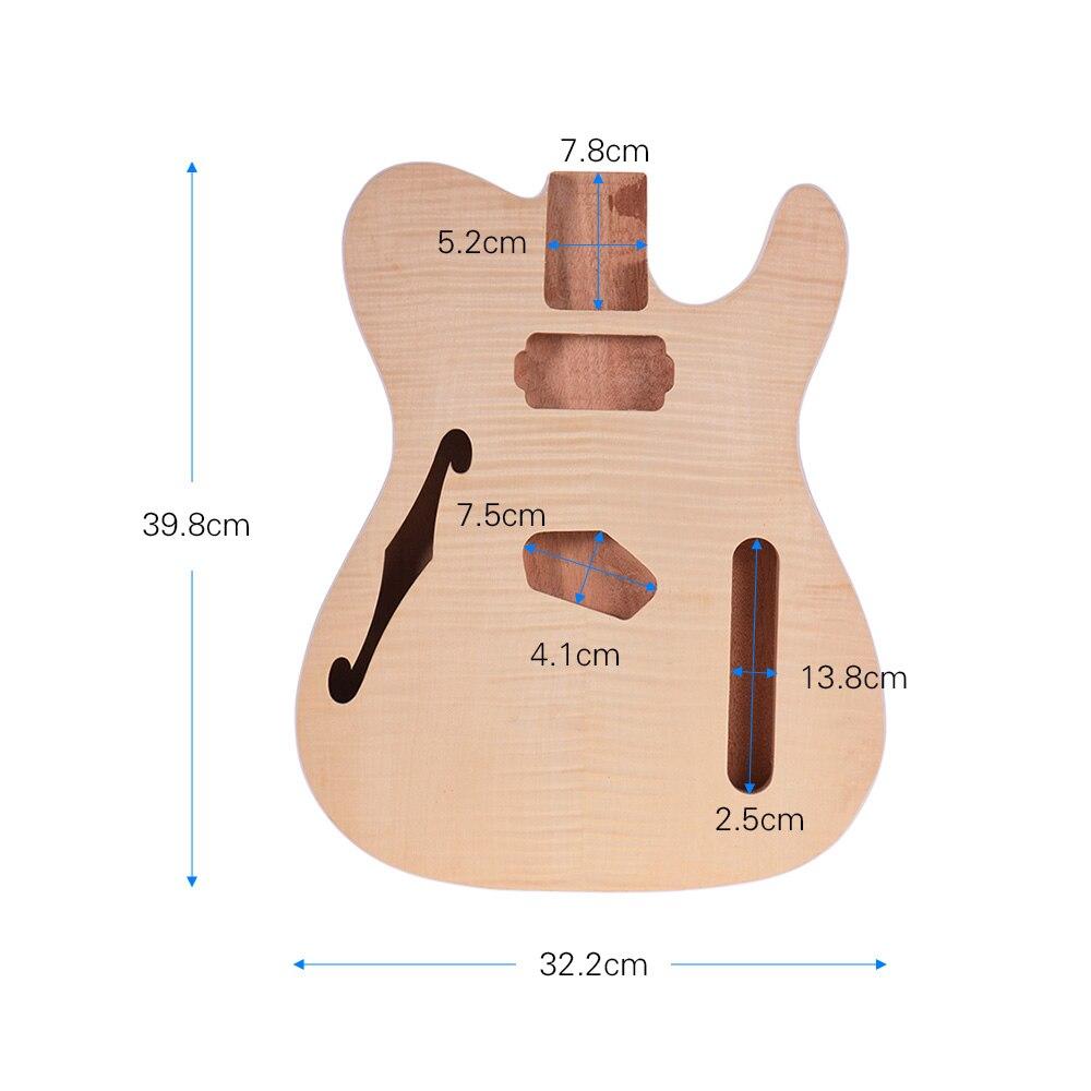Muslady TL-FT03 non fini guitare corps acajou bois blanc guitare baril pour télé Style guitares électriques bricolage pièces - 2