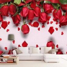 Photo Wallpaper Background Murals Wedding-House Livingroom Custom Modern 3D Diantu Rose