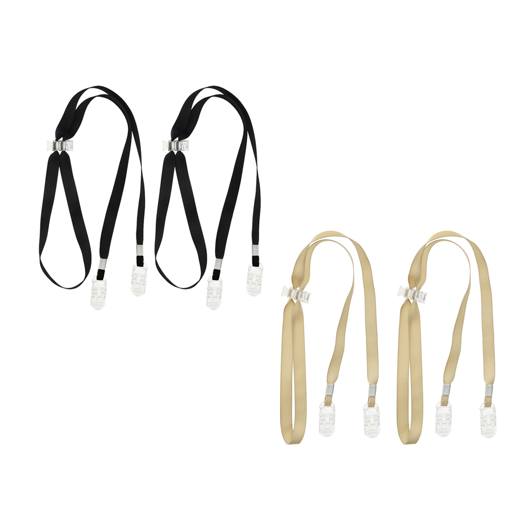 2 Pair Adjustable Napkin Clips Bib Chain Lanyard Napkin Holder For Elder Patient  Dinner