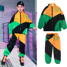 New Children Hip Hop Dancing Clothes Kids Coat Hip Hop Pant Show Suit Street Dance Wear Boys Girls Clothing Performance Outfits(China)