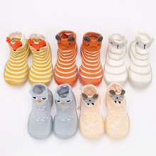 baby sock shoes spring autumn style baby first walkers non-slip rubber shoes