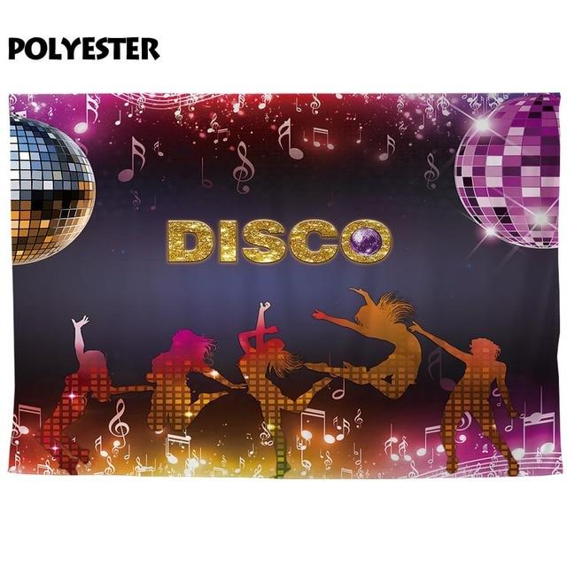 Allenjoy-banderoles décoratives murales | Fête Disco, musique scintillante, rideau de photos-appel sur scène, Grand événement, fond décran, tissu