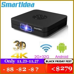 Image 1 - Smartldea K1 HD DLP מקרן אנדרואיד 2G RAM 32G ROM 4K 3D בהירות גבוהה מקרן 5G wifi airplay וידאו משחק proyector