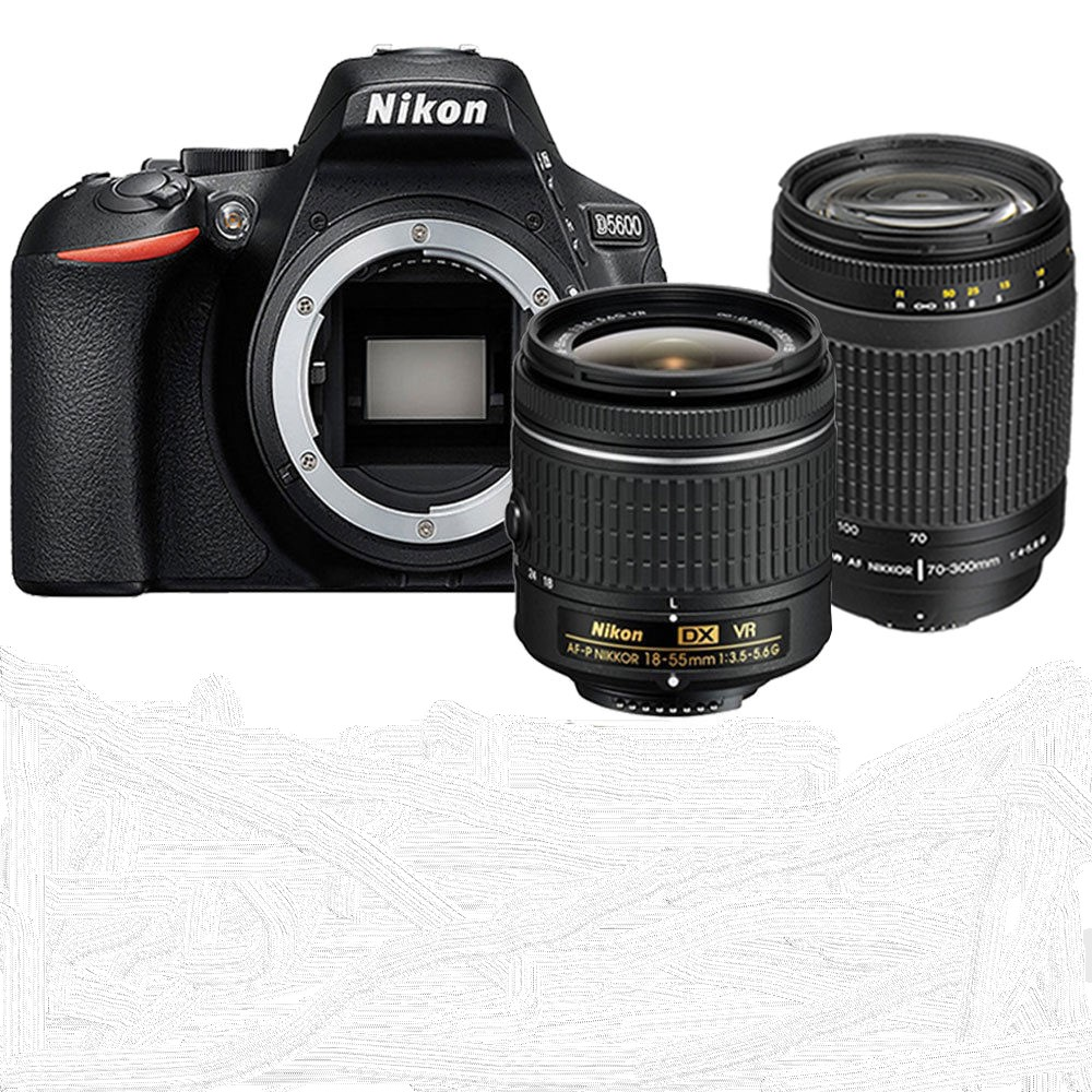 Nikon D5600 DSLR Camera Body & AF P 18 55mm Lens and AF 70 300mm Lens Kit|DSLR Cameras| - AliExpress