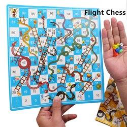 Crianças cobra escada plástico vôo xadrez jogo de tabuleiro portátil engraçado família jogos de festa brinquedos para crianças
