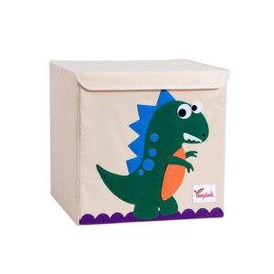 Image 4 - Neue Cartoon Tier Stickerei Falten Lagerung Box Gewaschen Oxford Tuch Kleiderschrank lagerung tasche kid spielzeug