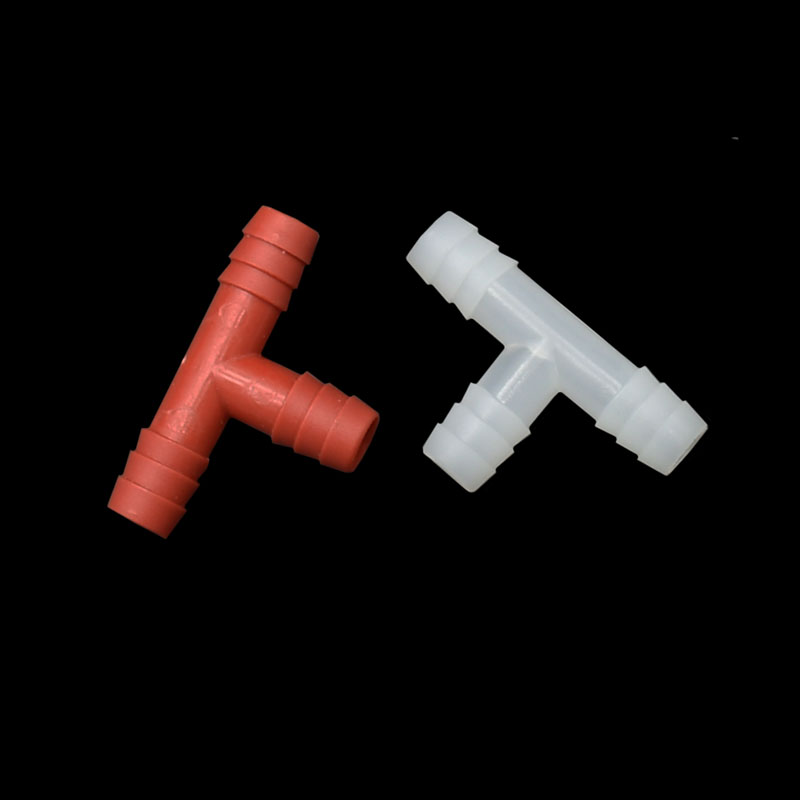8mm Tee Connector Water Splitter 3/8 Hose Garden Irrigation Tee Barb Drinking Fountain Fittings 20 Pcs