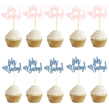 10pcs Glitter Paper 1st Cupcake Toppers Happy Birthday One Cake Topper first Decorating oh Baby Girl Boy Party Supplies
