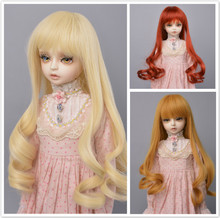 Muziwig  1/3 1/4 Bjd hair High Temperature Long Gray Straight and curly Bjd Wig SD For BJD Doll Free shipping