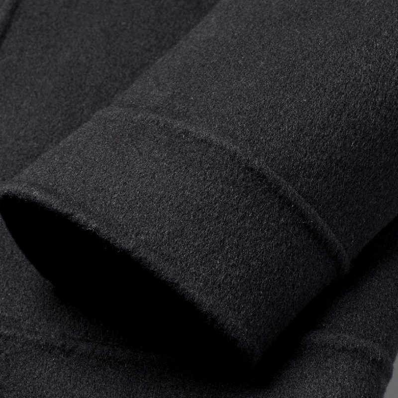 Пальто, Осеннее шерстяное Короткое шерстяное пальто, двусторонняя пряжа, Мужское пальто и пальто, пальто