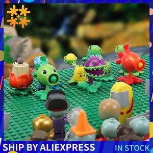 Image 1 - Bitkiler vs zombiler rakamlar yapı taşları PVZ aksiyon figürleri rol oynamak savaşları öğretici oyuncaklar için çocuk koleksiyonu yetişkinler için