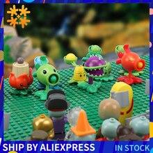 Blocs de construction contre Zombies, plantes, figurines daction PVZ, jeux de rôle, jeux dapprentissage pour enfants, Collection pour adultes