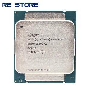 Image 1 - Intel Xeon E5 2620 V3 LGA 2011 3 procesor CPU SR207 2.4Ghz 6 rdzeń 85W E5 2620V3 wsparcie X99 płyta główna