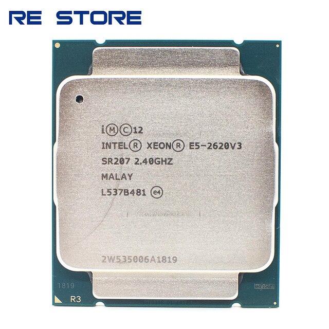 Intel Xeon E5 2620 V3 LGA 2011 3 procesor CPU SR207 2.4Ghz 6 rdzeń 85W E5 2620V3 wsparcie X99 płyta główna