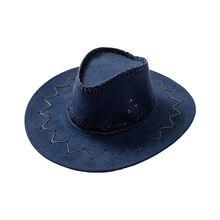 Western Cowboy Hat for Men Women Kids Fedora Outdoor Wide Brim Faux Leather Black White Pink  Summer Wide Brim Beach Travel Cap