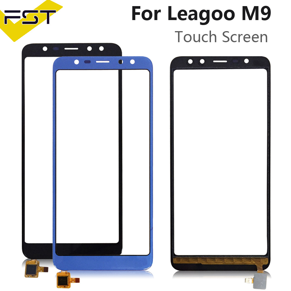 5.5'' Black/Blue Tested Well Touch Screen Digitizer Panel For Leagoo M9 Touch Panel Front Glass Lens Sensor Touchscreen