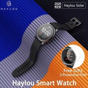 Новые солнечные Смарт-часы Haylou LS05 монитор сердечного ритма во время сна IP68 водонепроницаемый аккумулятор 30 дней iOS Android спортивные мужские и...
