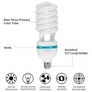 Image 5 - 150W Photography Corn Lighting Bulbs E27 Base 5500K LED Bulb Lamps High Bright Daylight For Softbox Photographic Photo Studio
