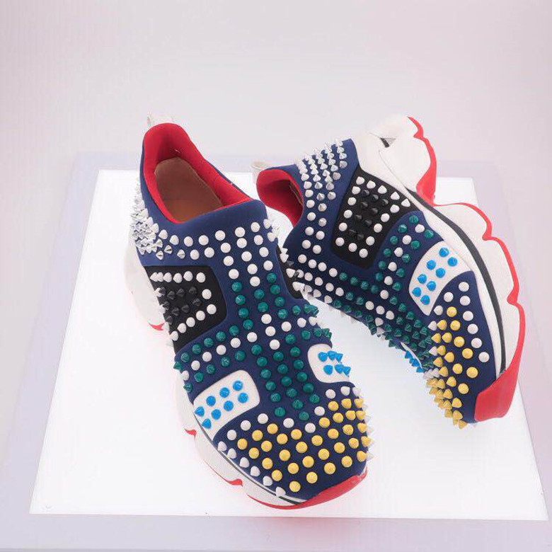 Hot Sale Slip-on Rivets Studded Sneakers Women Flat Casual Shoes Comfortable Real Leather Thick Bottom Loafers Daddy Shoes Woman