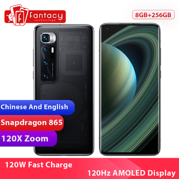 New Chinese Version Xiaomi Mi 10 Ultra 8GB RAM 256GB ROM Smartphone Snapdragon 865 Octa Core 48MP 120X Zoom Camera 120Hz Display