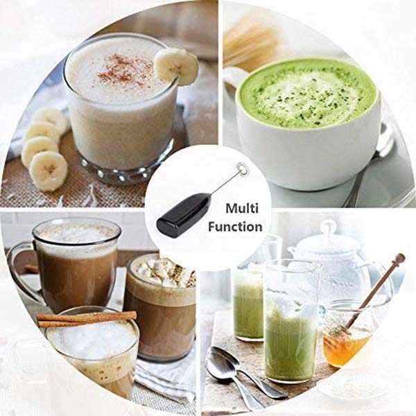 Espuma de leite handheld, espuma de café a pilhas-agitadores de café de batedor elétricos, foamer de leite, mini misturador presentes úteis