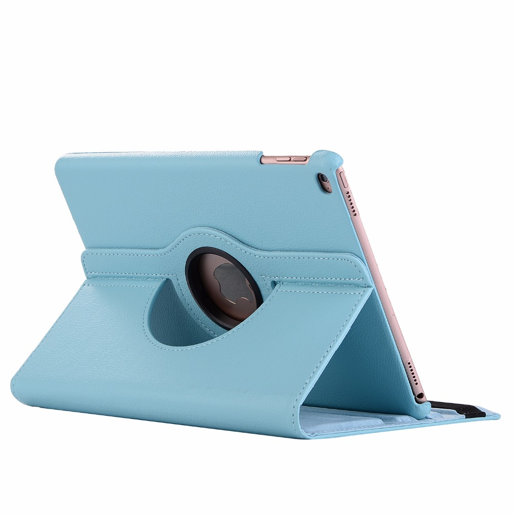 blue Blue 360 Degree Rotating PU Leather Flip Cover Case For iPad 10 2 2020 2019 8th 7th