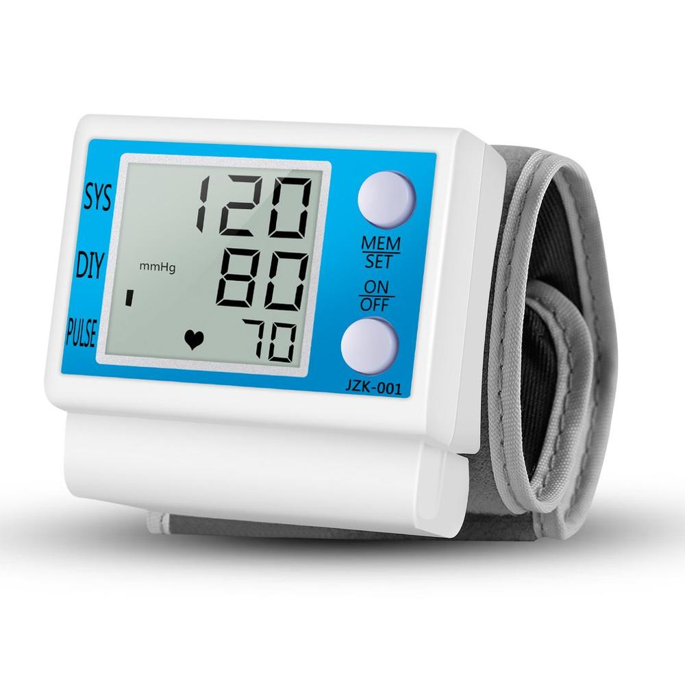 LCD Digital Automatic Wrist Blood Pressure Monitor Heart Beat Pulse Meter