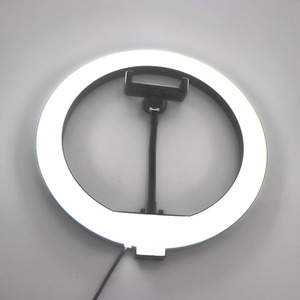 Image 3 - 10 인치 USB 디 밍이 가능한 LED Selfie 링 라이트 스튜디오 링 라이트 카메라 전화 사진 비디오 메이크업 램프 전화 클립 홀더