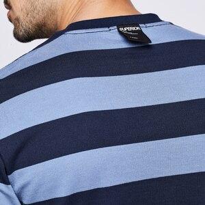 Image 5 - KUEGOU 2020 סתיו כותנה פסים כחול T חולצה גברים חולצת טי מותג חולצה ארוך שרוול חולצה אופנה בגדים חדש למעלה 1289