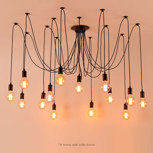 Image 1 - Plafonnier Led suspendu en forme daraignée, design nordique Vintage, plusieurs formes rétro réglables bricolage design classique, luminaire dintérieur