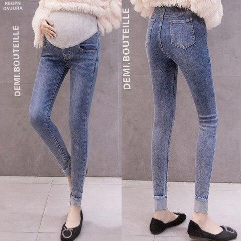 denim calcas de brim de maternidade lapis calcas stretch skinny calcas para mulheres gravidas leggings