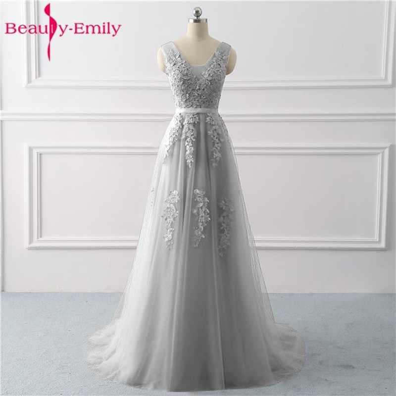 Vestido De Fiesta De Princesa Con Cuello En V Blanco Largo