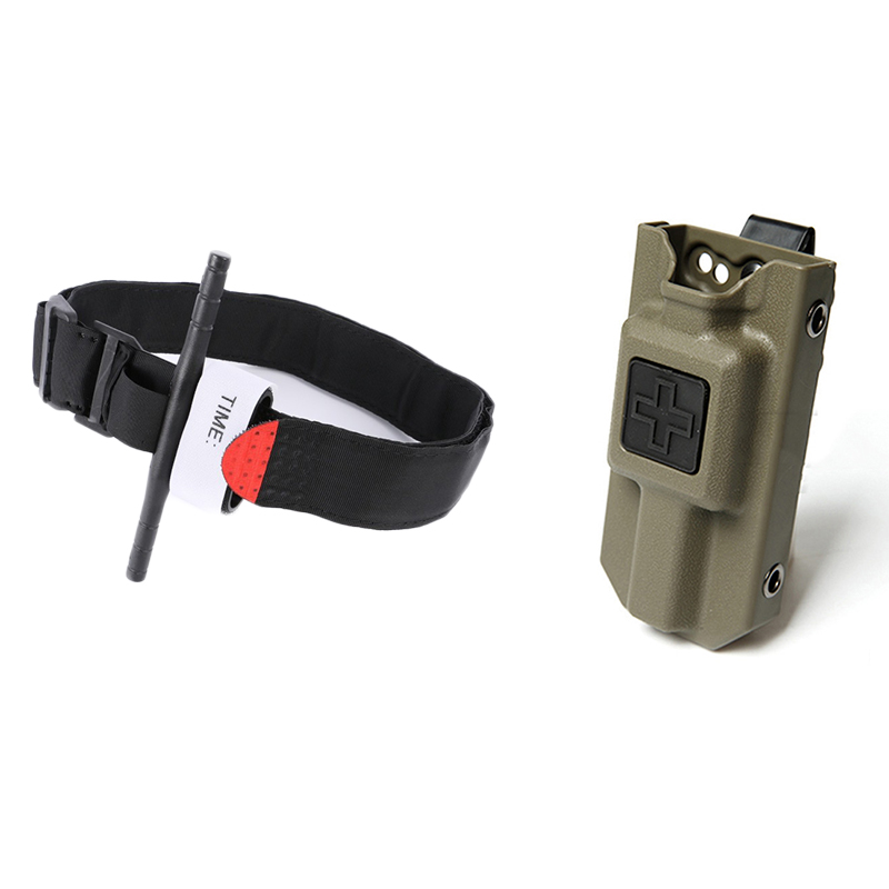 Tactical Military Tourniquet Fast Hemostasis Medical Emergency Carrier Pouch Outdoor Survival Exploration One-handed Operation