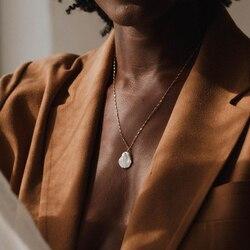 Collier de perles naturelles en or Baroque, à pendentif ras du cou, bijoux fait main, collier de style Boho, pour femmes