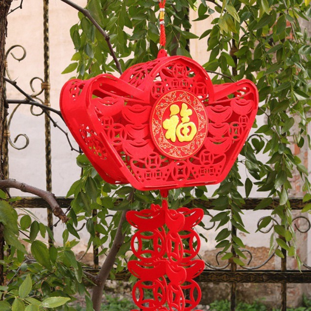 2020 Waterproof Good Fortune Red Paper Lanterns for Chinese New Year Spring Festival Party Celebration Home Decor 3