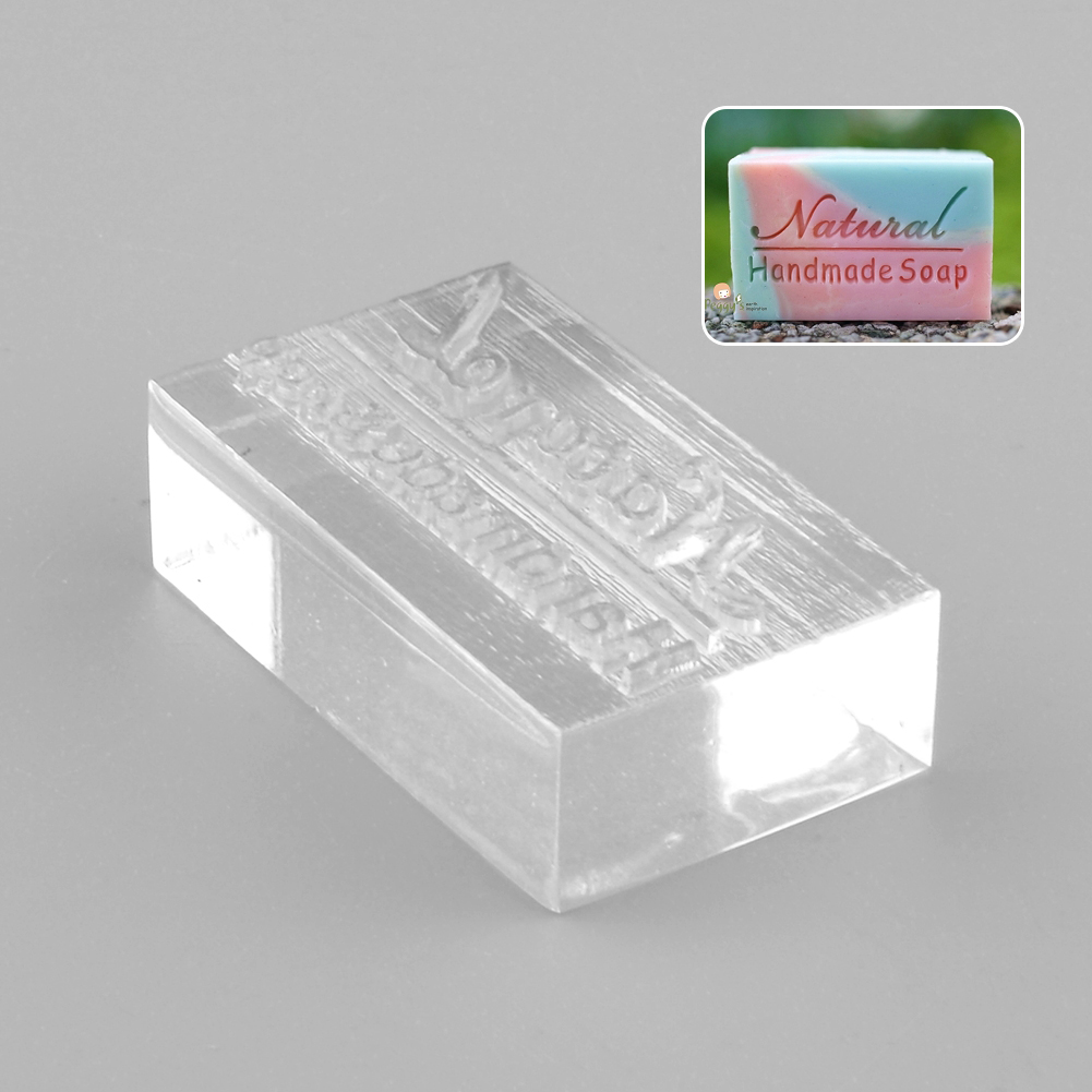 Acrylic Natural Design Handmade Soap Stamping Stamp Seal Mold Craft DIY