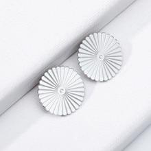 Round Sun Design Earring Studs Elegant Fashion Women Jewelry